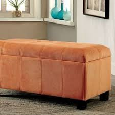 Orange Storage Ottoman Osp Metro Storage Ottoman Orange Vinyl Ottomans And Storage