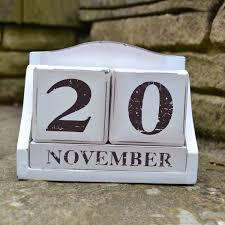 2017 calendar wood block perpetual calendar blocks desk