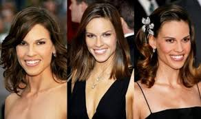 hairstyle for below the shoulder hilary swank s hairstyles