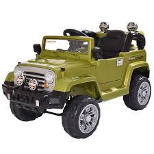 electric jeep jeep style kids ride on battery powered electric car w remote