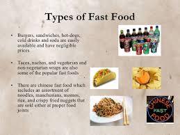 Fast Food Fast Food Ppt