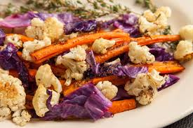 roasted veggies thanksgiving roasted cauliflower carrots u0026 cabbage everyday epicurist