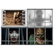 online get cheap zombie wall aliexpress com alibaba group diy 3d halloween zombie fake window ghost decals window wall sticker scary wallpaper removable home living