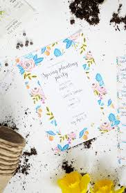 alice and loisfree printable spring planting party invitations