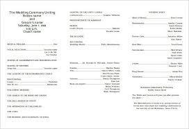 wedding bulletin templates church wedding bulletin templates templates resume exles