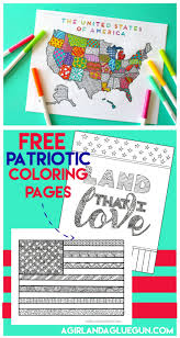 4th of july coloring pages a and a glue gun