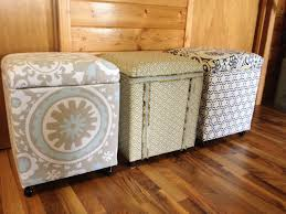 Ottoman Cooler Macgirlver More Styrofoam Coolers Made Into Ottomans Crafts And