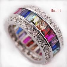rings with crystal images Multi gemstone ring 925 sterling silver atperrys jpg
