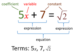 basic algebra terms examples solutions videos