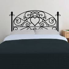 bed grill style vinyl wall decal bedroom decal modern headboard