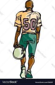 football player sketch royalty free vector image