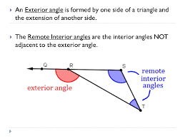 What Is Interior And Exterior Angles Measuring Angles In Triangles Section 4 2 Warm Up 1 Find The