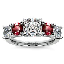 ruby engagement rings trellis ruby and diamond gemstone engagement ring in white gold