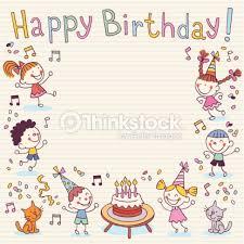 Border Designs For Birthday Cards Happy Birthday Card Vector Art Thinkstock