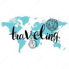 traveling the world images Traveling world map balloon and compass isolated vector object jpg