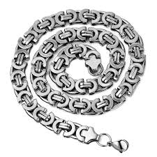 2015 men s jewelry 8mm 60cm new arrival new products 2016 for men mens jewellery stainless steel byzantine