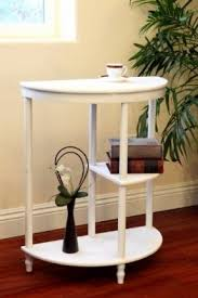 Half Moon Console Table White Console Tables Foter