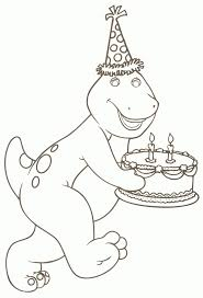 barney printable coloring pages coloring