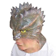 lizard man latex masks halloween cosplay props animal party