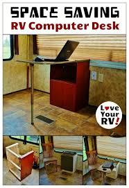 Custom Built Computer Desks Summer Renovation Project Part 4 U2013 Rv Computer Desk