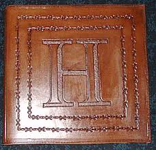 leather scrapbook personalized leather scrapbooks memory books photo albums barb wire