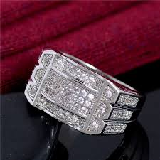 crystal silver rings images Shuangr silver color jewelry ring for men vintage crystal anel jpg