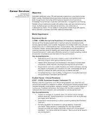 resume for nursing internship sle objectives for resumes students resume exles nursing skills