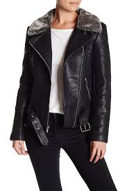 rachel roy faux leather jacket with faux fur collar nordstrom rack