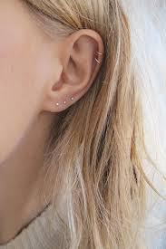 piercing ureche small studs small silver studs third piercing earring