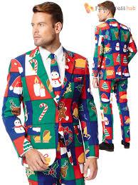 christmas suit mens deluxe christmas opposuit festive oppo suit fancy