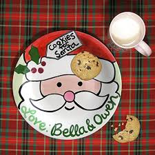 cookie for santa plate personalized santa plate