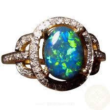 black opal engagement rings black opal diamond ring 14k gold green yellow orange flashopal