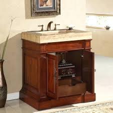 Mission Bathroom Vanity by Vanities Dry Sink Vanity Narrow Mission Cupboard With Limestone