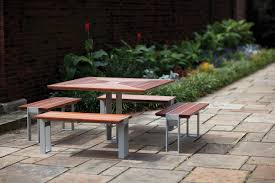 Outdoor Tables And Benches Apex Table Ensemble Outdoor Forms Surfaces