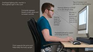 Optimal Desk Height Position Monitor Correctly To Avoid Neck Pain From Sitting