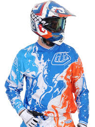 troy lee motocross helmets troy lee designs blue orange 2015 gp galaxy mx jersey troy lee