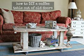 how to make a coffee table out of pallets how to make a wood coffee table out of old doors assembly process