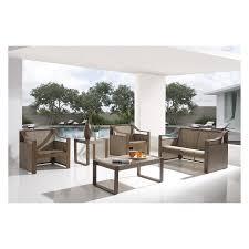 hospitality rattan venetian sling patio 5 piece deep seating