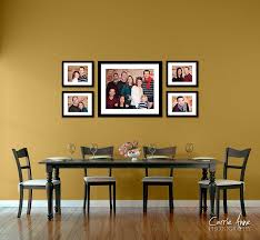Living Room Photo Wall by Splendid Wall Decor With Empty Picture Frames Cheerful Image Of