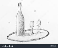pencil sketches of wine bottles object drawing wine bottle
