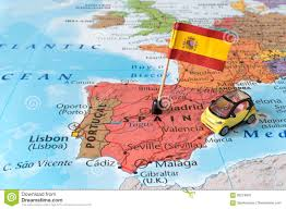 Spain Map Spain Map Flag And Car Travel Concept Stock Photo Image 93219920