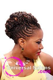 braided mohawk updo hairstyle from jasmine sims