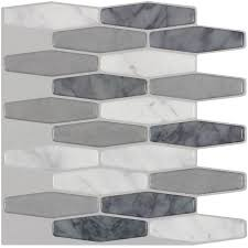 shop peel u0026stick mosaics peel and stick marble long hex mosaic