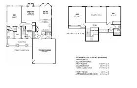 2 story floor plans with garage cottage country farmhouse design 2story house plans with options