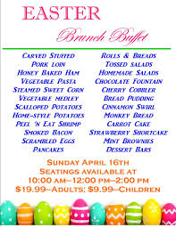 Easter Brunch Buffet Menu by The Rafters Restaurant Catering U0026 Events Blog Archive Easter