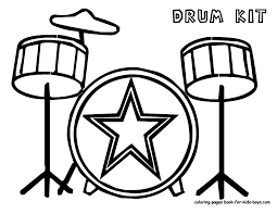 drum coloring page to print 11549