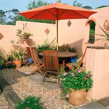 Mediterranean Gardens Ideas Garden Ideas Garden Furniture Parasol Alfresco Entertaining