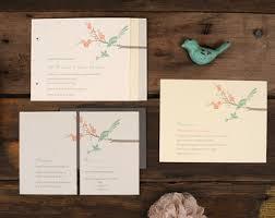 bird wedding invitations birds wedding invite etsy