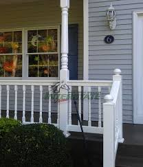 vinyl railing porch u0026 newel posts interstate visions