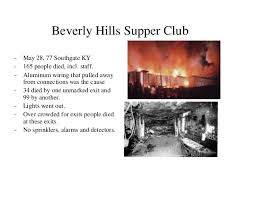 Beverly Hills Supper Club Floor Plan General Industry Fire Safety Siosh 2014